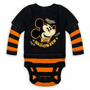 Disney Store Mickey Mouse 1st Halloween Baby Bodysuit Size 0 3 Months