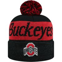 new concept 4c3e0 87c32 Product Image Women s Russell Black Scarlet Ohio State Buckeyes Frore  Cuffed Knit Hat With Pom - OSFA