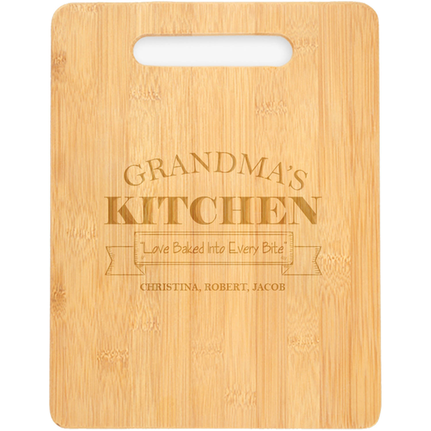 "Grandma's Kitchen Personalized Cutting Board, Sizes 12.5"" x 11.5"" and 12.5"" x 13.75"""