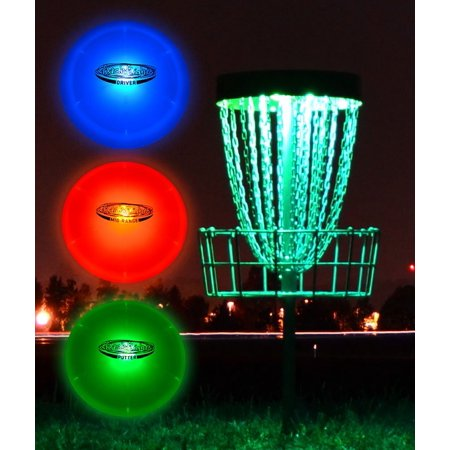 GlowCity Night Play Glow In The Dark LED Discs & Lights for Basket Golf Kit