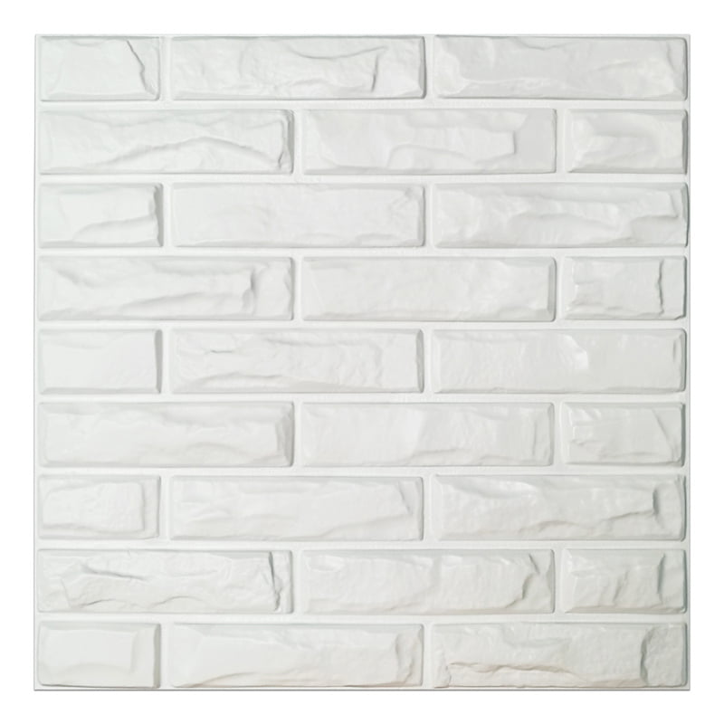 Wall Panels White Brick Tiles