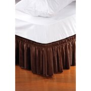 Home Details Wrap Around Bed Ruffle/Bed Skirt - Chocolate (80x78x14)