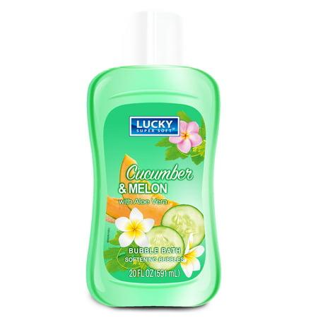 Super Aloe - (4 Pack) Lucky Super Soft - Bubble Bath - Cucumber & Aloe Vera - 20 fl.oz.