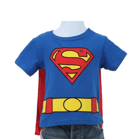 d84851d3e Superman - Toddler Baby Boys Costume T-Shirt with Cape - Walmart.com
