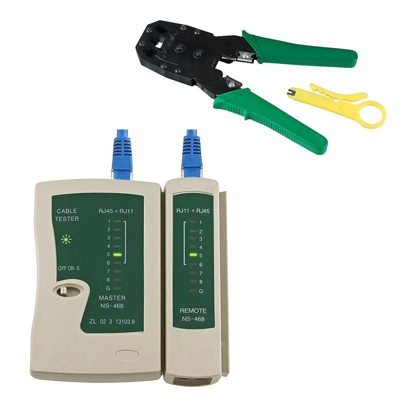 Insten CAT5 Network LAN Cable Crimper Pliers Tools with FREE Cable Tester For RJ45 / RJ11