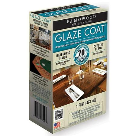 Famowood 5050060 1 Pint Crystal Clear Glaze Coatᅡᆴ High Gloss Epoxy Coating