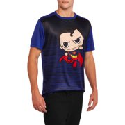 Superman Big Men's Character Embossed Poly Tee, 2XL