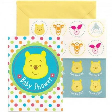 Winnie The Pooh Baby Shower Invitations (Winnie the Pooh 'Little Hunny' Invitation Set w/ Envelopes)