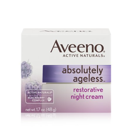 Aveeno Absolutely Ageless Restorative Facial Anti Aging Night Cream  1 7 Oz