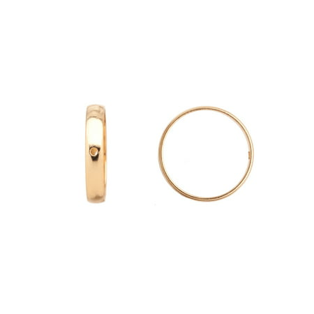 Bead Frame, Ring 16K Gold-Finished Brass 18x2.7mm, Fits Up To 16mm Beads Sold per pkg of 10
