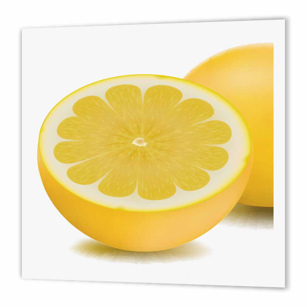3dRose Lemon Cut in Half, Iron On Heat Transfer, 6 by 6-inch, For White Material