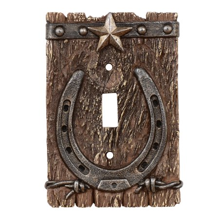 Western Ranch Rustic Single Switch Plate - Southwestern Decor