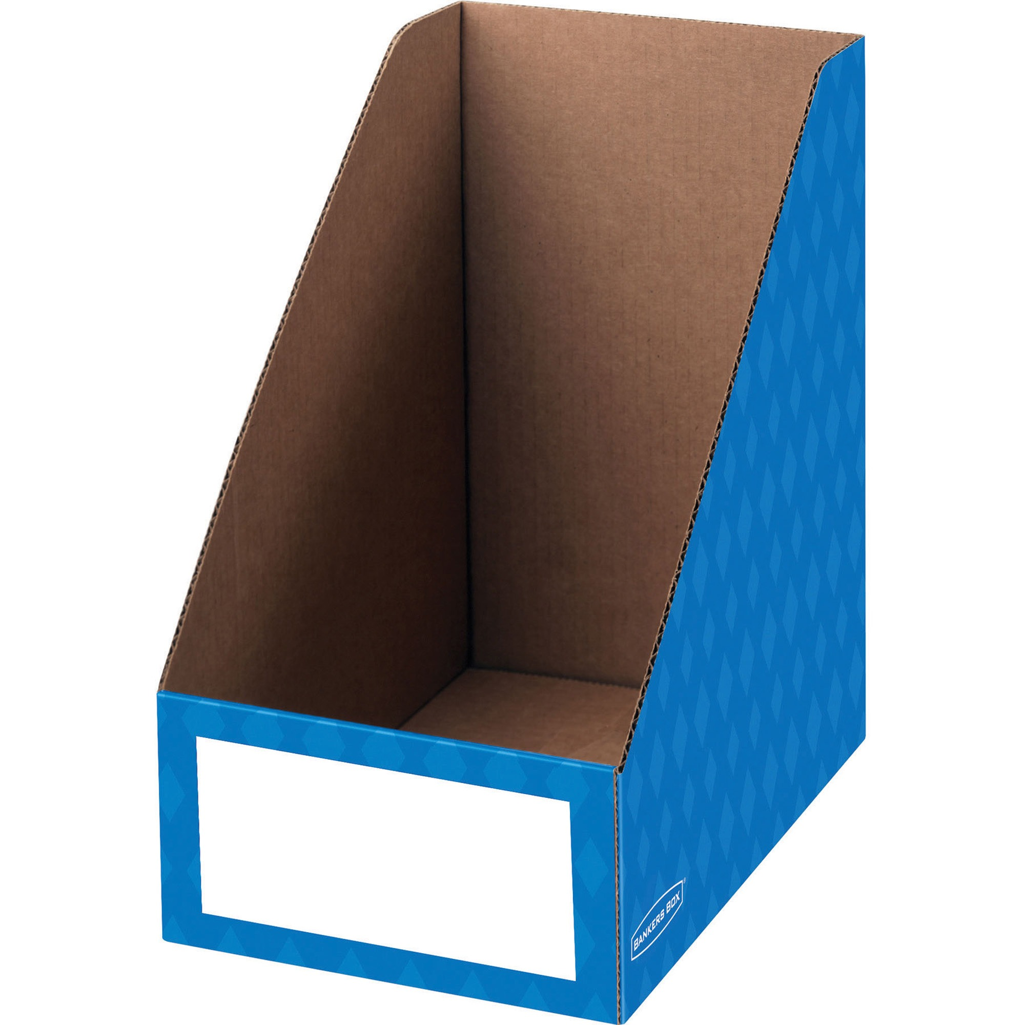 "Fellowes Banker's Box 8"" Magazine File Holder, Blue, 3pk"