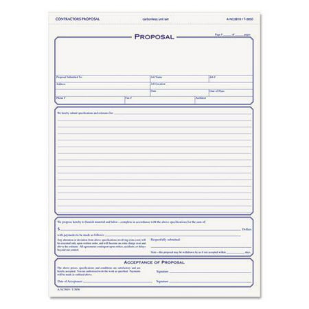 Proposal Form Investment Proposal Template   Free Sample
