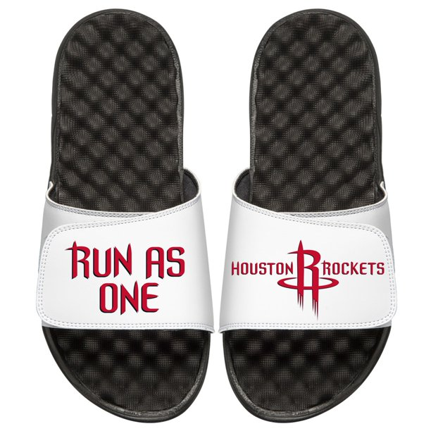 Islide Houston Rockets Islide Team Slogan Slide Sandals Black White Walmart Com Walmart Com