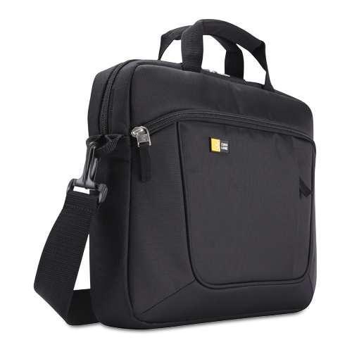 "Case Logic Laptop Slim Case - Fits Most 14.1""  Laptops and Apple iPad, Protective Pockets, Shoulder Strap, Padded Handle"