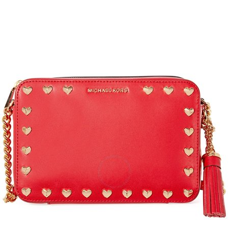 0cb2e8c1d362 Michael Kors - Michael Kors Medium Ginny Heart Studded Camera Bag - Red -  Walmart.com