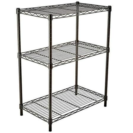 Ktaxon 3 Tier Black Heavy Duty Wire Shelves Organizer Wire Shelving Rack Unit,Metal Shelf