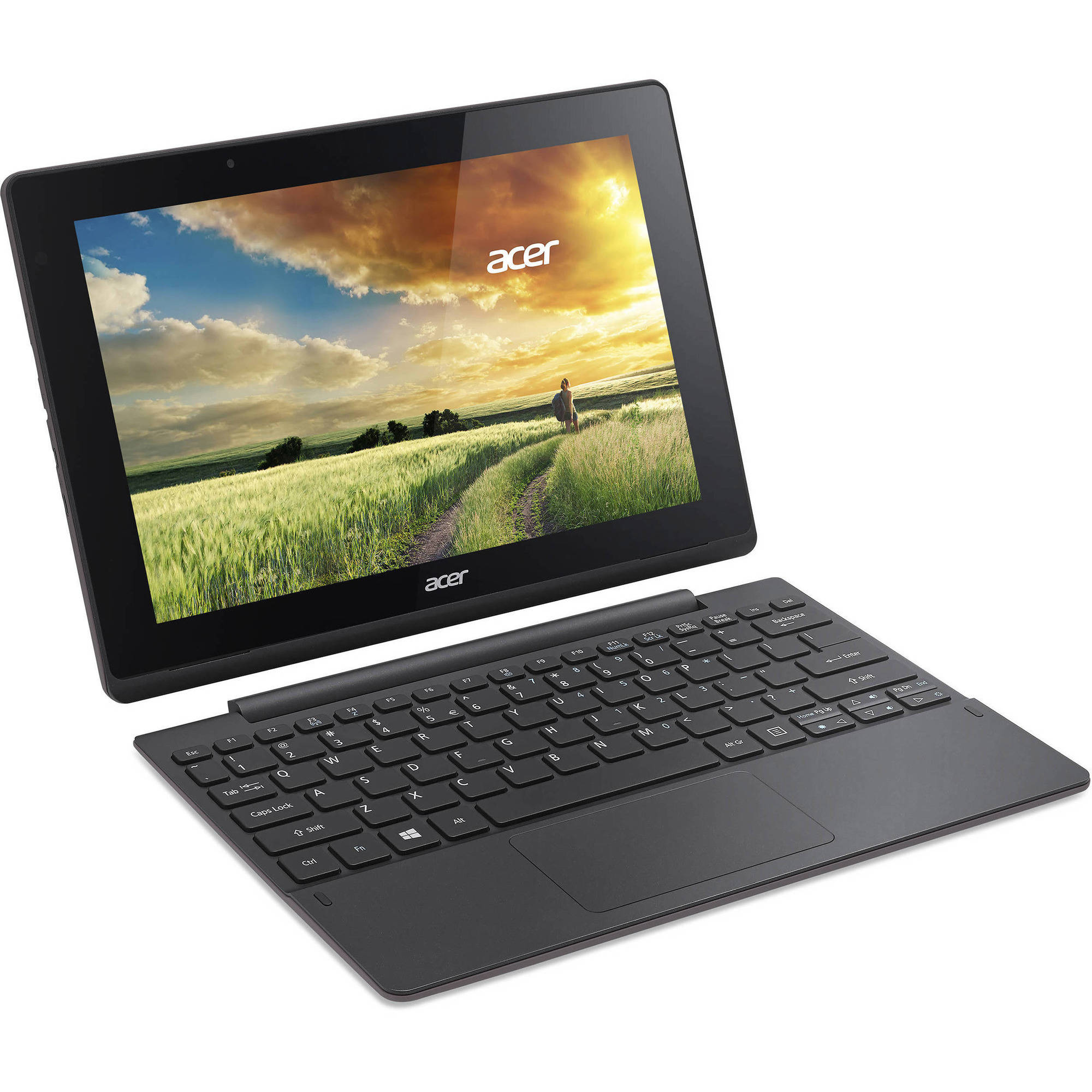 "Manufacturer Refurbished Acer Aspire Switch with WiFi 10.1"" Touchscreen Tablet PC Featuring Windows 10 Home Operating System, Black"