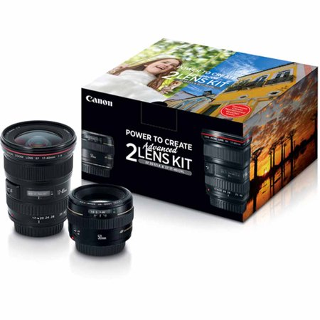 Canon Advanced Lens Kit - 50mm f/1.4 & 17-40mm (Best 17 50mm Lens For Canon)
