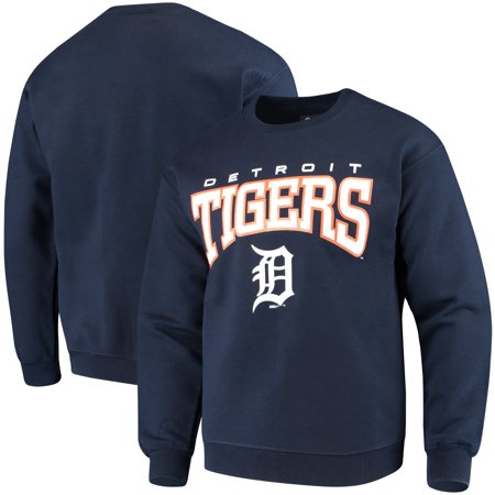 Detroit Tigers Stitches Pullover Crew Sweatshirt - Navy Detroit Tigers Youth Fleece Pullover