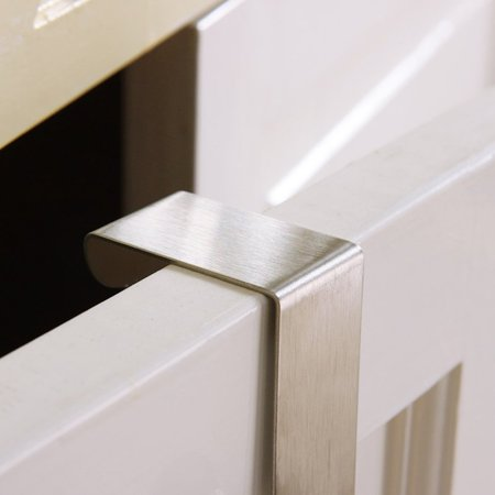 2-pack Door Hooks Stainless Steel, Reversible Over Door Cabinet Drawer Towel Coat Hooks for Home Hospital School Office