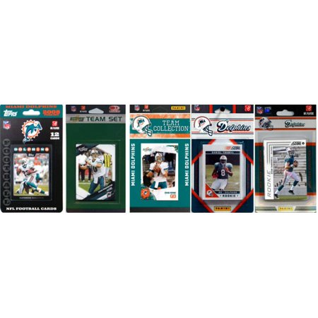 C&I Collectibles NFL Miami Dolphins 6 Different Licensed Trading Card Team Sets O/S