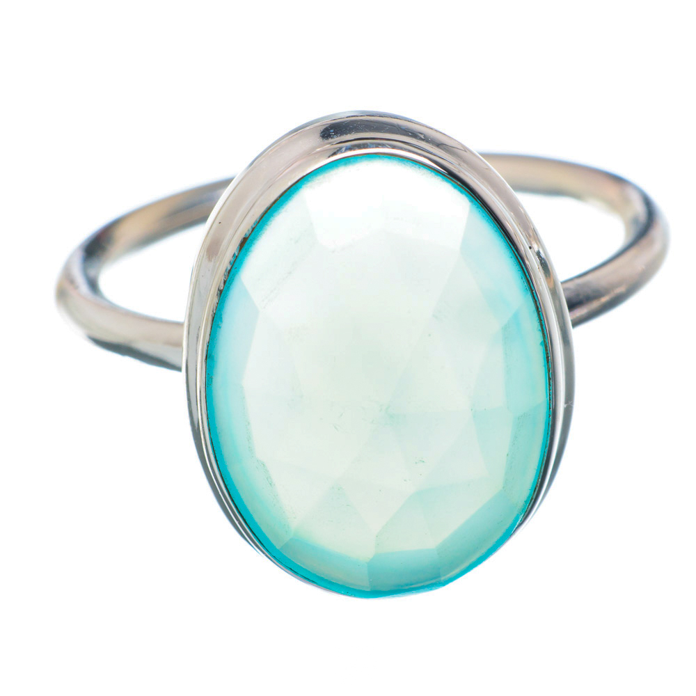 Ana Silver Co Aqua Chalcedony 925 Sterling Silver Ring Size 9.25 Handmade Jewelry RING896207 by Ana Silver Co.