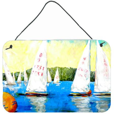Sailboats Round The Mark Aluminium Metal Wall Or Door Hanging Prints