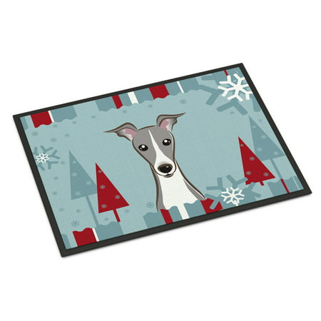 Winter Holiday Italian Greyhound Door Mat](Winter Door Decorations For Classrooms)