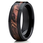 camo ceramic ring ceramic wedding band camouflage wedding band ceramic wedding ring 8mm - Camo Wedding Rings For Him
