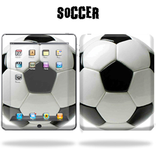 Mightyskins Protective Vinyl Skin Decal Cover for Apple iPad tablet e-reader 3G or Wi-Fi wrap sticker skins - Soccer