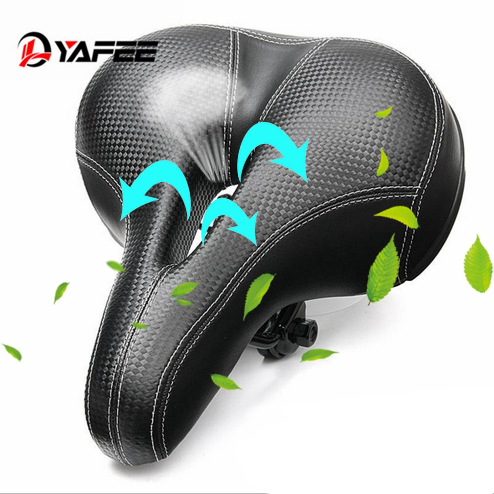 Outdoor Sport Bicycle Riding Cycling Comfortable Recoverable Foamed Pad Shock Absorption Mountain Bike Saddle... by