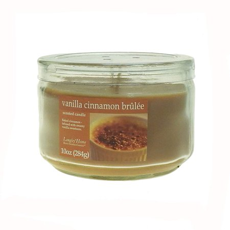 Cinnamon Scented Candle - Langley Home 2 Wick Vanilla Cinnamon Brulee Scented Jar Candle 10 oz