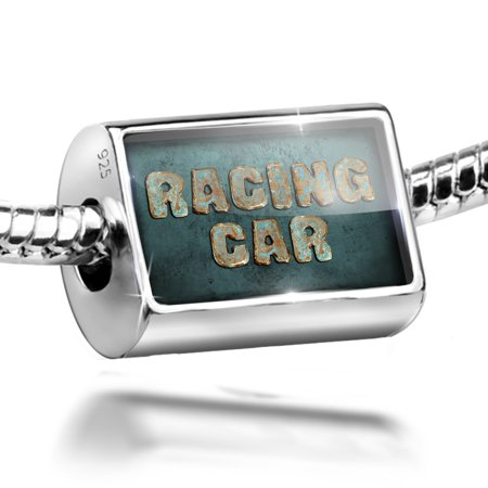 Neonblond Charm Racing Car Vintage Metal Copper 925 Sterling Silver Bead Folding Bead Race
