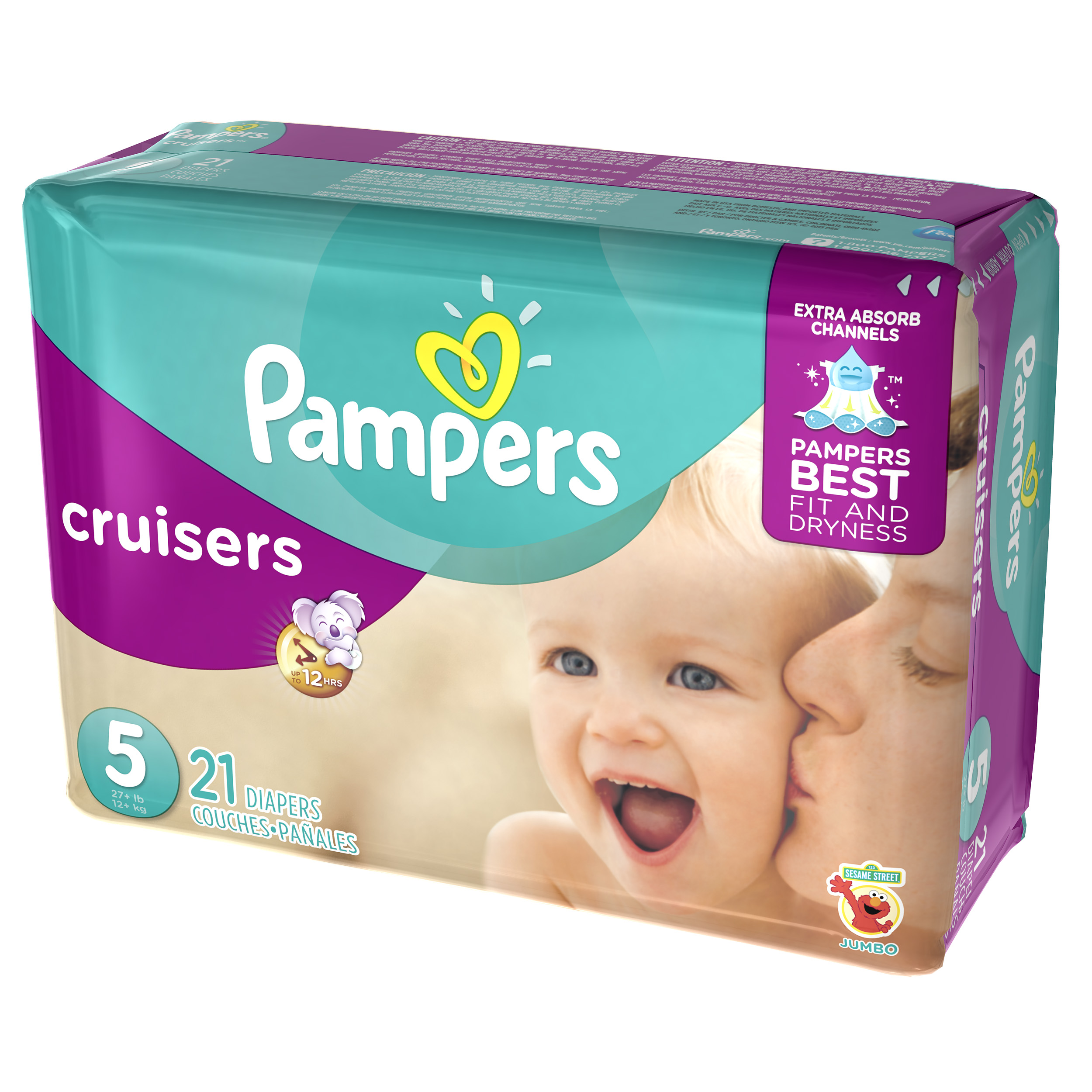 Pampers Cruisers Diapers Size 5 21 count