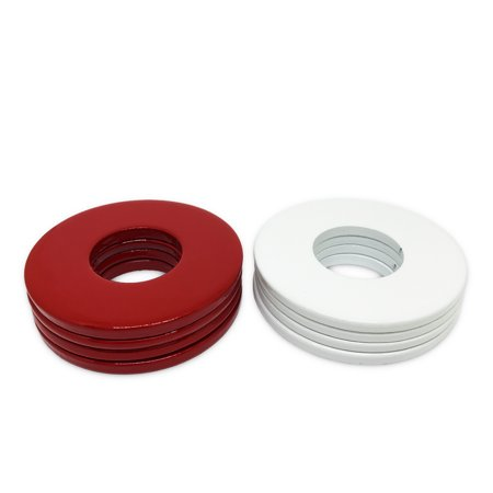 8 Pack - High Quality Powder Coated Steel Replacement Washer Toss Pitching Washers 2.5