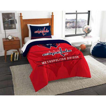 Washington Capitals The Northwest Company NHL Draft Twin Comforter - Washington Comforter