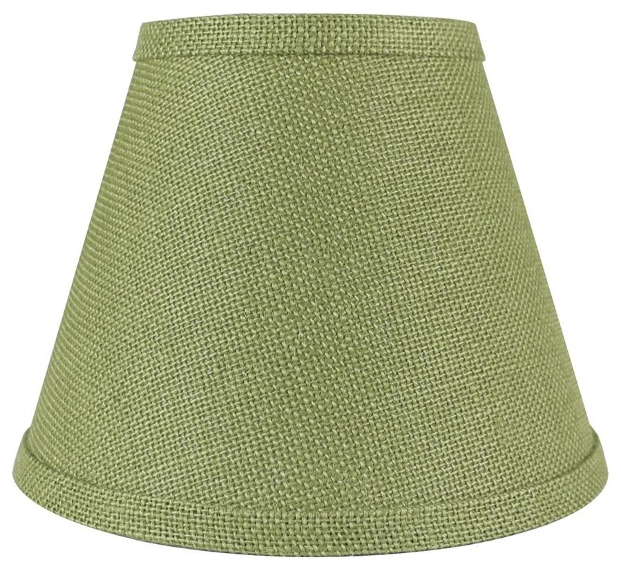 "Urbanest Hardback Faux Silk Coolie Lamp Shade, 5x9x7"", Cream"