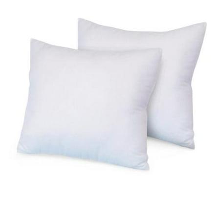 SwissLux Eco Fiber 28 x 28 Inch Euro Square Pillow (Set of 2) ()