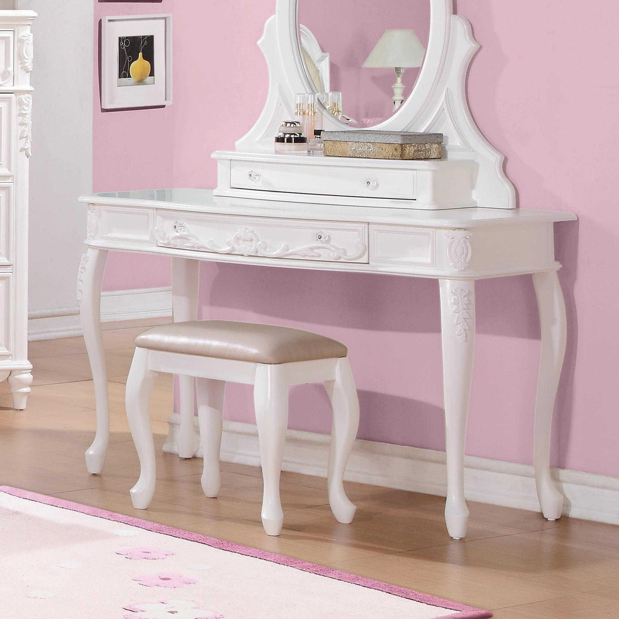Coaster Company Caroline Collection Vanity Desk White Painted