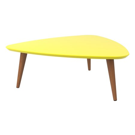 Triangle Coffee Table Wood.Utopia 11 81 High Triangle Coffee Table With Splayed Legs In Yellow