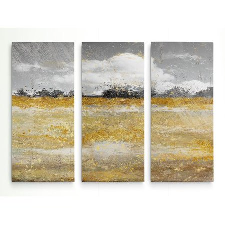Meadow 2 Canvas (Mercer41 'Meadow Shimmer II' Acrylic Painting Print Multi-Piece Image on Wrapped)