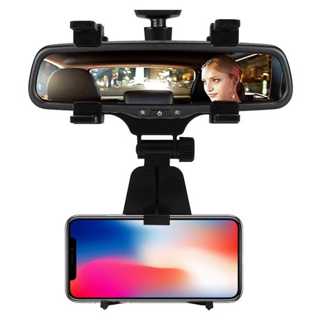 Cell Phone Car Mount  Car Rearview Mirror Mount Truck Auto Bracket Holder Cradle for iPhone , Samsung, Nokia,Blackberry,fits