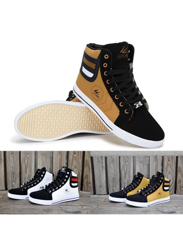 Meigar Mens Casual Shoes Sneakers High Top Lace up Sport Basketball Shoes