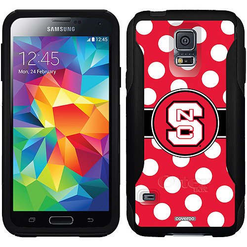 NC State Polka Dots Design on OtterBox Commuter Series Case for Samsung Galaxy S5