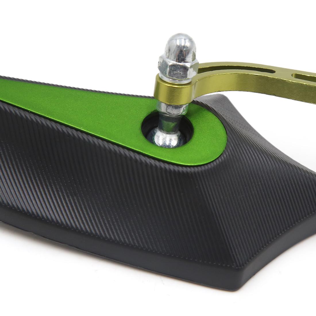 2Pcs Black Green Adjustable Pentagon Rearview Mirror for Motorcycle Motorbike - image 1 de 4