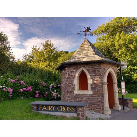 LAMINATED POSTER Bus Stop Fairy Cross Hamlet Village Devon Poster Print 24 x 36