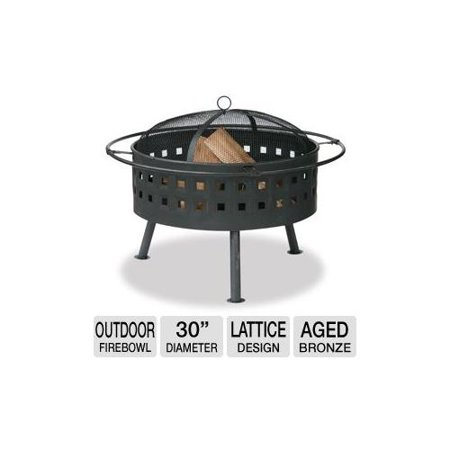 Blue rhino wad997sp outdoor firebowl aged bronze for Outdoor fireplace spark arrestor