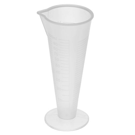 Unique Bargains Kitchen Laboratory Plastic Cylindrical Shape Measuring Cup Clear 100ml - Clear Plastic Cylinder